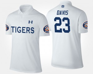 Ryan Davis Auburn Polo Mens #23 White 940896-118