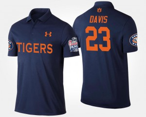 Ryan Davis Auburn Polo Navy Men's Peach Bowl #23 Bowl Game 648918-482
