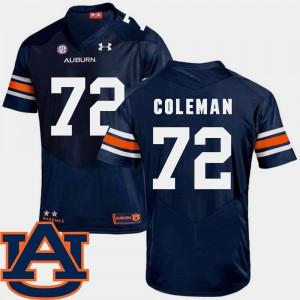 Navy SEC Patch Replica College Football Shon Coleman Auburn Jersey #72 Men's 370427-821