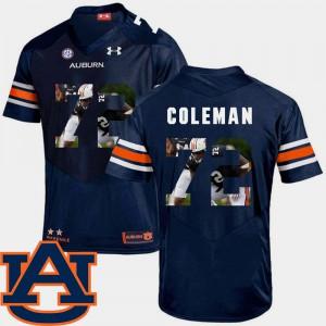 Football Navy Pictorial Fashion For Men's #72 Shon Coleman Auburn Jersey 790372-133