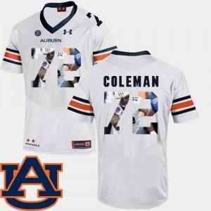 Football Pictorial Fashion #72 White For Men Shon Coleman Auburn Jersey 535099-719