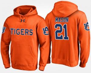 #21 Tre Mason Auburn Hoodie For Men's Orange 990735-498