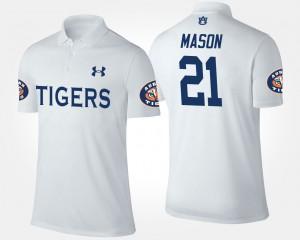 #21 Tre Mason Auburn Polo Mens White 739639-656