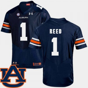College Football Trovon Reed Auburn Jersey Mens #1 SEC Patch Replica Navy 247019-770