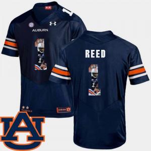 #1 Pictorial Fashion Football Trovon Reed Auburn Jersey Navy Men 310648-413