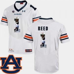 Pictorial Fashion White Trovon Reed Auburn Jersey #1 Football Men's 479458-661