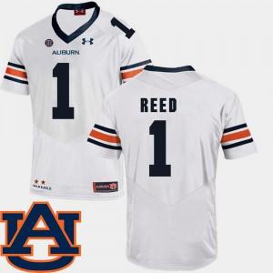 College Football White #1 SEC Patch Replica Men's Trovon Reed Auburn Jersey 384269-585