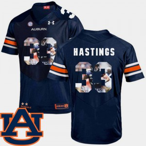 Navy Mens #33 Pictorial Fashion Football Will Hastings Auburn Jersey 981778-533