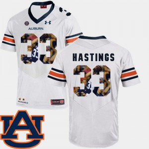 #33 Football White Pictorial Fashion Men's Will Hastings Auburn Jersey 754635-307