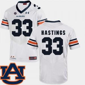 SEC Patch Replica White #33 College Football Will Hastings Auburn Jersey Men 225238-234