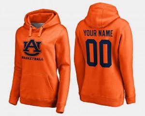 Basketball - Orange Auburn Custom Hoodies #00 For Women's 189036-178