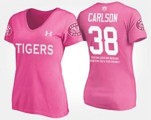 Daniel Carlson Auburn T-Shirt Women Pink With Message #38 899604-262