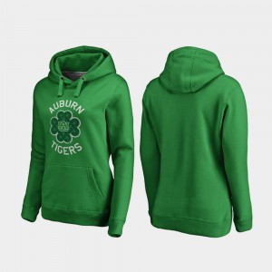 St. Patrick's Day Auburn Hoodie Kelly Green Luck Tradition Ladies 323484-873